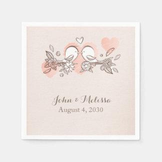 Sweet Love Birds Paper Napkins