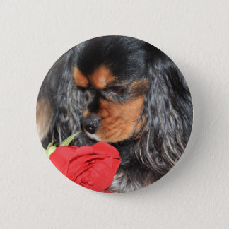 Sweet Love Cavalier King Charles Spaniel 2 Inch Round Button