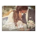 SWEET LOVE & THANKS | WEDDING THANK YOU POST CARD