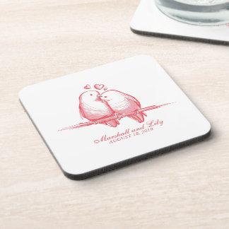Sweet Lovebirds Valentine Wedding | Coaster