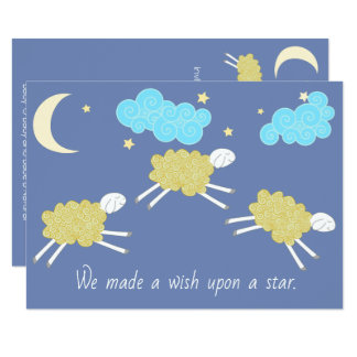 Sweet Lullaby Gender Neutral Baby Shower Card
