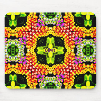 ~ Sweet Lupins Pattern ~ Personalised OLIVIA ~ Mouse Pad