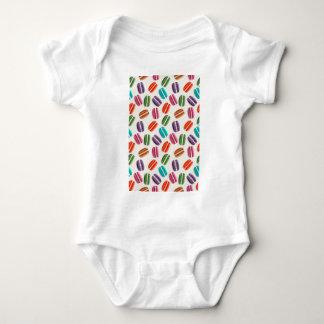 Sweet Macaron Cookies and Polka Dot Pattern Baby Bodysuit