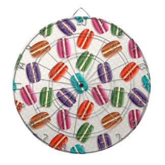 Sweet Macaron Cookies and Polka Dot Pattern Dart Board