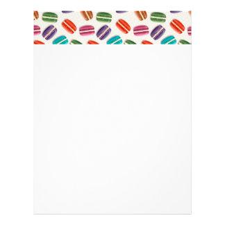 Sweet Macaron Cookies and Polka Dot Pattern Letterhead Template