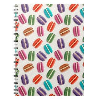 Sweet Macaron Cookies and Polka Dot Pattern Notebook