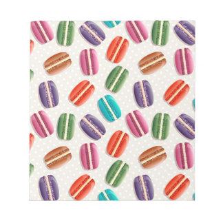 Sweet Macaron Cookies and Polka Dot Pattern Notepad