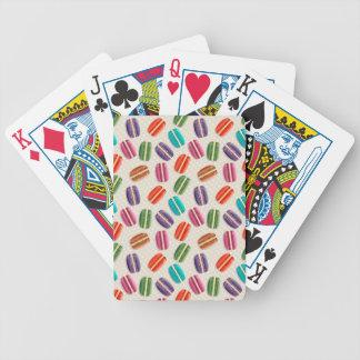 Sweet Macaron Cookies and Polka Dot Pattern Poker Deck
