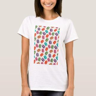 Sweet Macaron Cookies and Polka Dot Pattern T-Shirt