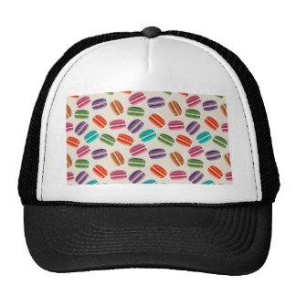 Sweet Macaron Cookies and Polka Dot Pattern Trucker Hat