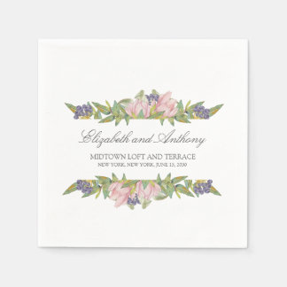 Sweet Magnolia Disposable Wedding Serviettes Napkin