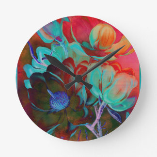 SWEET MAGNOLIA EVENING ROUND CLOCK