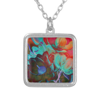SWEET MAGNOLIA EVENING SILVER PLATED NECKLACE