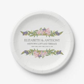 Sweet Magnolia Wedding Paper Plates