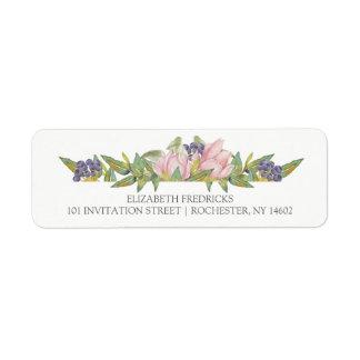 Sweet Magnolia Wedding Return Address Labels