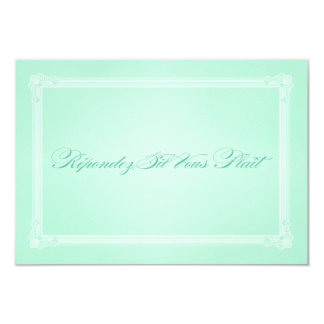 Sweet Mint Green Poster Style Wedding RSVP Card