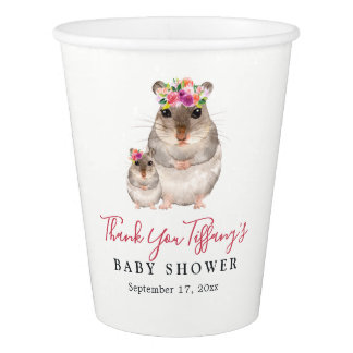 Sweet Mom And Baby Floral Mouse Baby Shower Cup