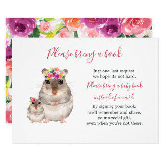 Sweet Mom And Baby Mouse Baby Shower Book Card