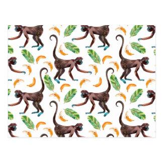 Sweet Monkeys Juggling Bananas Postcard