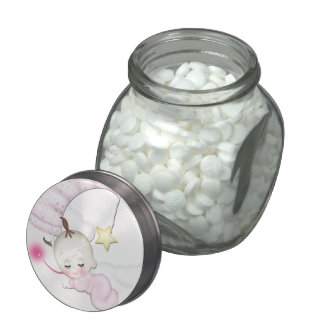 Sweet Moon Baby Girl Shower Mints and Candy