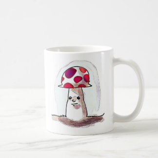 sweet mushroom cartoon style illustration coffee mug