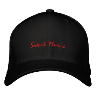 Sweet Music-Guitar-Embroidered Hat Embroidered Hats