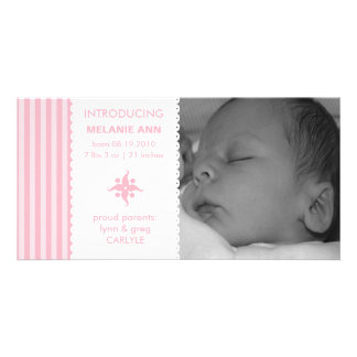 Sweet n Simple Photo Birth Announcement Custom Photo Card