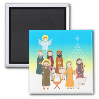 Sweet Nativity Scene for Kids Magnet