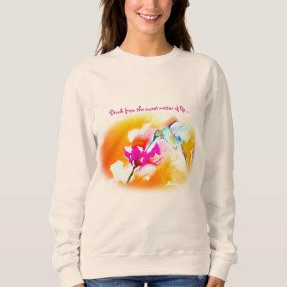 """""""Sweet Nectar"""" Hummingbird Print Sweatshirt"""