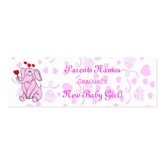 Sweet New Baby Girl Announcement Pack Of Skinny Business Cards