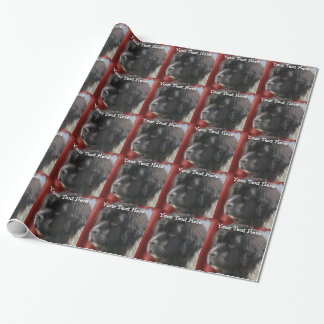 Sweet Newfoundland Dog Face Wrapping Paper