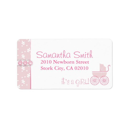 Sweet One Girl Address Label