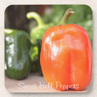 Sweet Orange Bell Pepper Drink Coaster