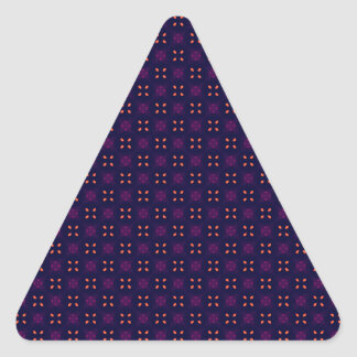 Sweet Orange Leaf Abstract Pattern Triangle Stickers