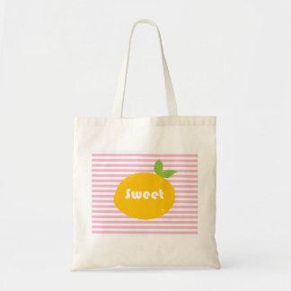 Sweet Orange Pop Art Print Tote Bag
