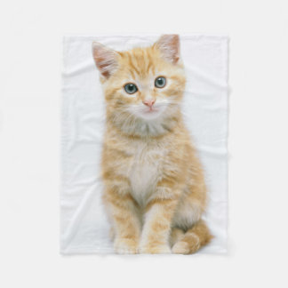 Sweet Orange Tabby Fleece Blanket