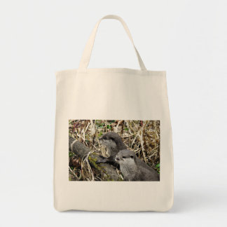 Sweet otters tote bag