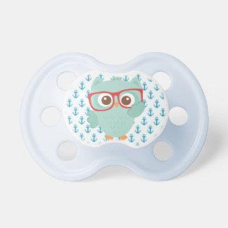 Sweet Owl - Anchor Print Pacifier