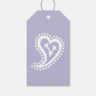Sweet Paisley Hearts in Lavender Gift Tag Pack Of Gift Tags