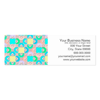 Sweet Pastel Multicolored Pattern Business Card Templates