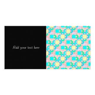 Sweet Pastel Multicolored Pattern Photo Greeting Card