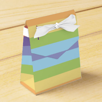 Sweet Pastel rainbow stripes pattern Favor Boxes