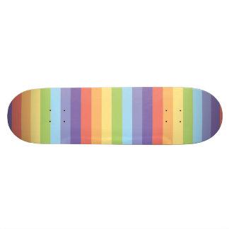 Sweet Pastel rainbow stripes pattern Skateboard Deck