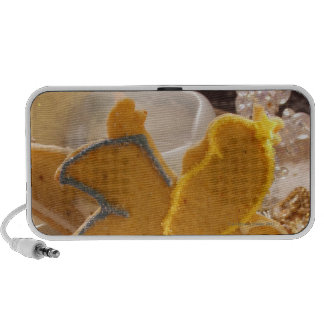 Sweet pastry angel with sugar decoration travelling speakers