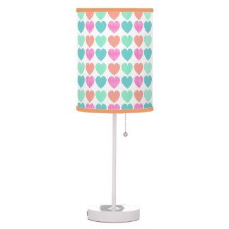 Sweet Pattern Hearts Table Lamp