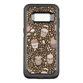 Sweet  pattern made of tasty cupcakes OtterBox commuter samsung galaxy s8 case
