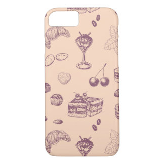 Sweet pattern with various desserts. Case-Mate iPhone case