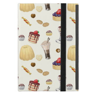 Sweet pattern with various desserts. cover for iPad mini