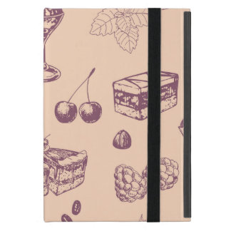Sweet pattern with various desserts. iPad mini case