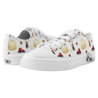 Sweet pattern with various desserts. Low-Top sneakers